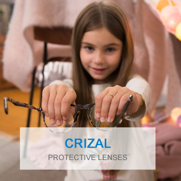 Crizal coatings for kids glasses