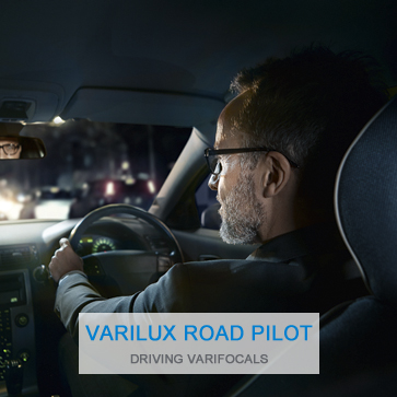 Driving varifocal glasses